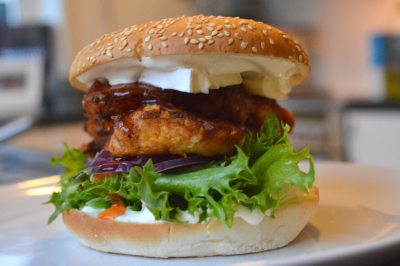 Crispy kyllingburger