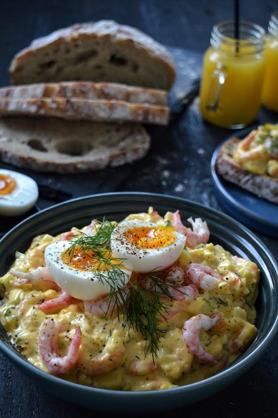 Rekesalat med egg dill og majones