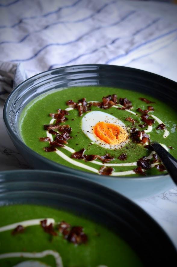Brokkoli- og spinatsuppe