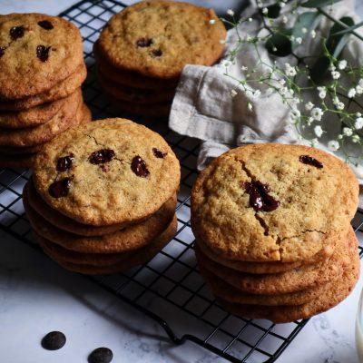 Cookies med sjokolade og mandler