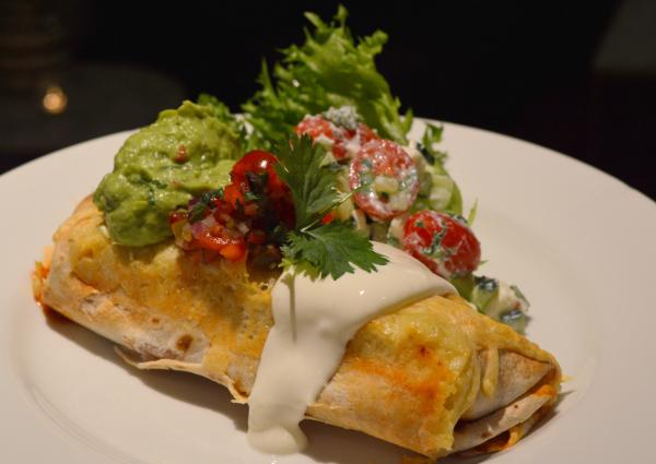 Enchiladas med kylling og grønnsaker