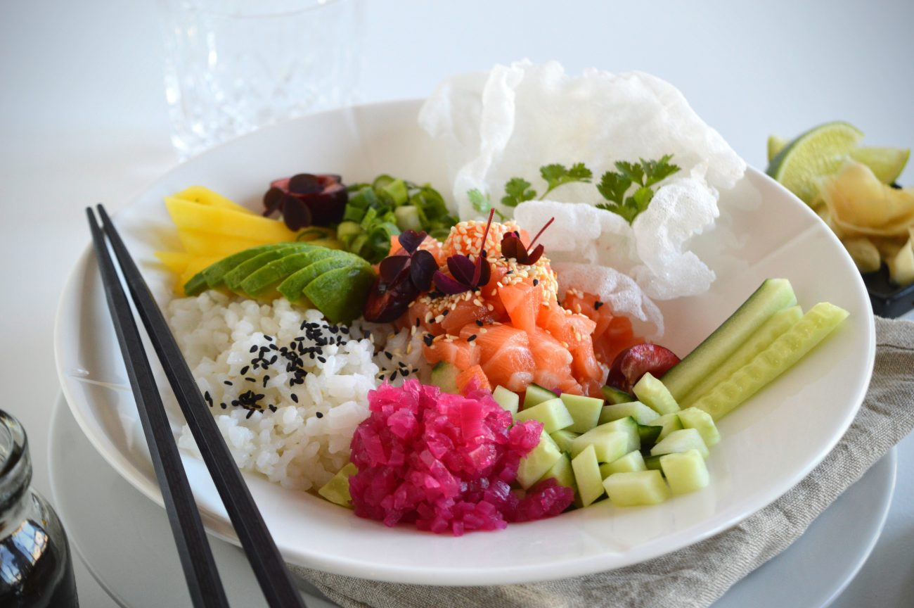 Sushibowl med salmalaks